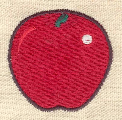 Embroidery Design: Apple 2.02w X 1.97h