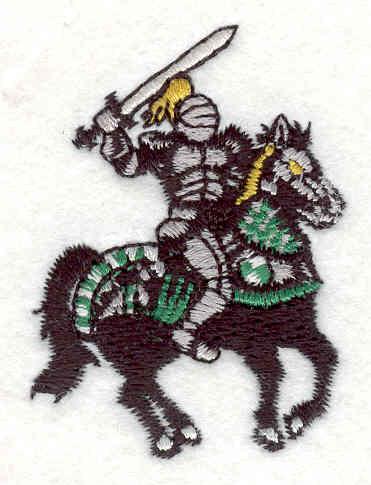 "Embroidery Design: Knight 3  2.19"" x 1.58"""