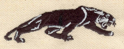 Embroidery Design: Panther 3.10w X 1.01h