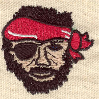 Embroidery Design: Pirate C 2.70w X 2.65h