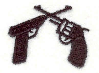 Embroidery Design: Pistols1.26w X 1.59h