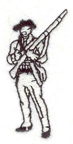 "Embroidery Design: Soldier 3  2.14"" x 0.95"""