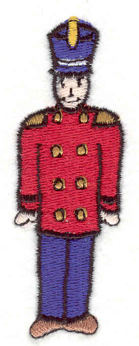 """Embroidery Design: Soldier 2  3.15"""" x 1.11"""""""