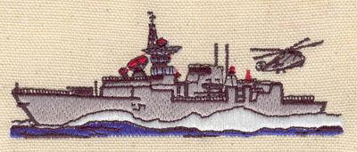 Embroidery Design: Battleship 4.14w X 1.62h