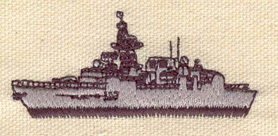 Embroidery Design: Naval ship 2.52w X 1.09h