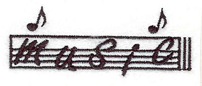 """Embroidery Design: Music 1.17"""" X 3.06"""""""