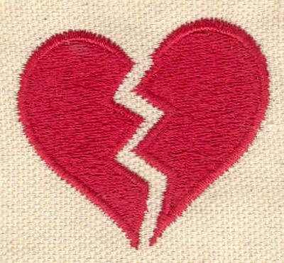 Embroidery Design: Broken Heart 1.78w X 1.59h
