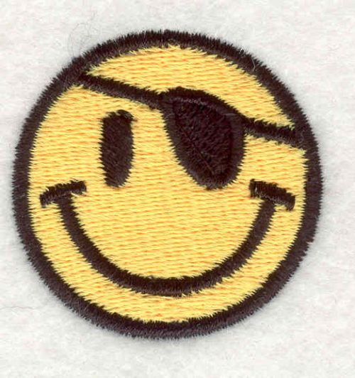 "Embroidery Design: Smiley Face 61.53""x1.54"""