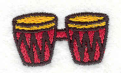 "Embroidery Design: Bongos 0.86"" X 1.54"""