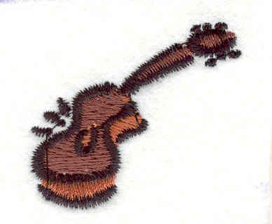 """Embroidery Design: Guitar 1 1.35"""" X 1.48"""""""