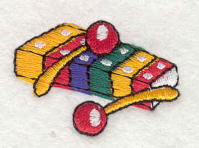 """Embroidery Design: Xylophone 1.04"""" X 1.48"""""""