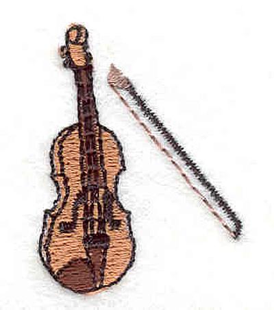 """Embroidery Design: Violin 1 1.48"""" X 1.14"""""""