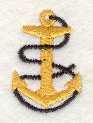 """Embroidery Design: Anchor with rope G 1.80""""w X 1.77""""h"""