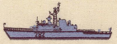 Embroidery Design: Battleship 3.79w X 1.34h