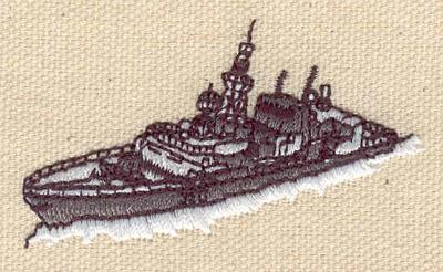 Embroidery Design: Battleship 2.39w X 1.41h