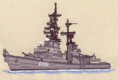 Embroidery Design: Destroyer 4.35w X 2.83h