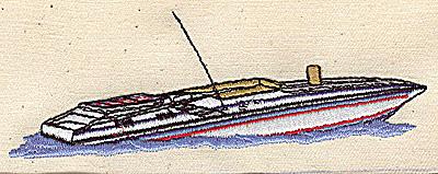 Embroidery Design: Speedboat 4.68w X 1.65h