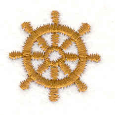 "Embroidery Design: Ship wheel C 0.91""w X 0.91""h"