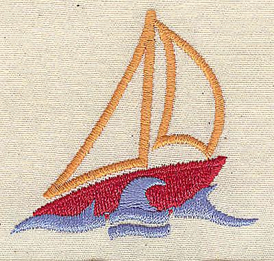 Embroidery Design: Sailboat 2.18w X 2.02h