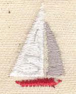 Embroidery Design: Mini sailboat 0.56w X 0.86h