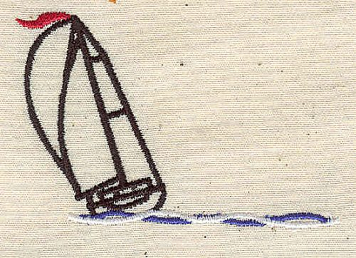 Embroidery Design: Sailboat 2.69w X 1.80h