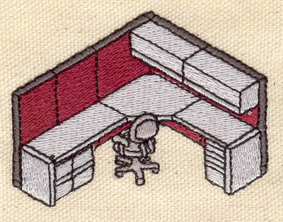 Embroidery Design: Office Desk 2.50w X 1.92h