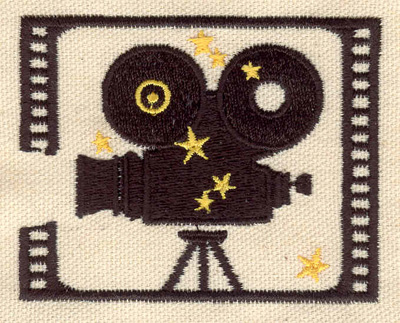 Embroidery Design: Movie camera 3.07w X 2.44h