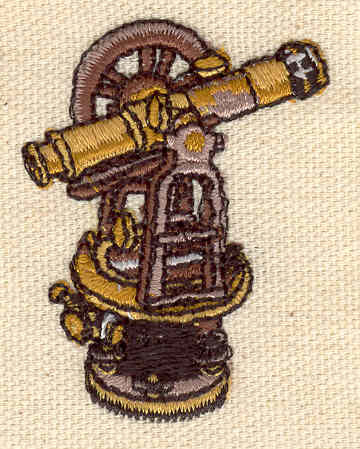 Embroidery Design: Surveying equipment 1.50w X 2.02h