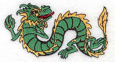 """Embroidery Design: Dragon A2.06""""Hx3.79""""W"""