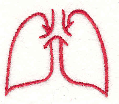 "Embroidery Design: Lungs 1  1.69"" x 1.98"""