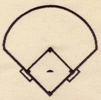 Embroidery Design: Baseball field 4.53w X 4.38h