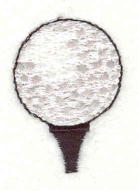 "Embroidery Design: Golf Ball and tee 1.13""w X 1.52""h"