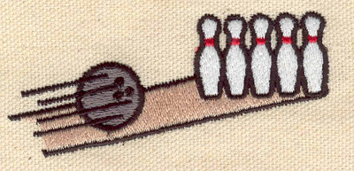 Embroidery Design: Bowling alley 3.07w X 1.33h