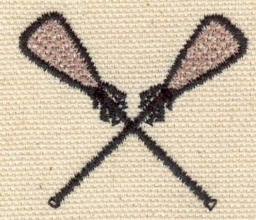 Embroidery Design: Lacrosse Raquets 1.63w X 1.43h
