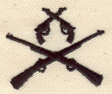 Embroidery Design: Guns and rifles 1.62w X 1.36h