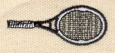 Embroidery Design: Tennis Raquet 2.00w X 0.83h