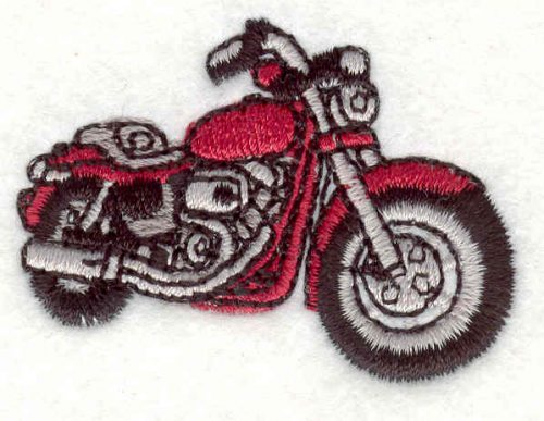 """Embroidery Design: Motorcycle 6 1.34"""" X 1.82"""""""