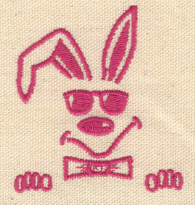 Embroidery Design: Rabbit with sunglasses 2.32w X 2.60h