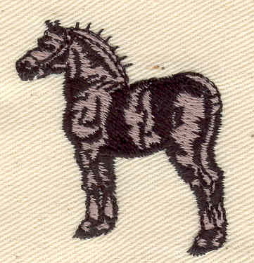 Embroidery Design: Horse 1.53w X 1.71h