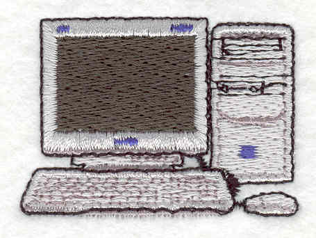 Embroidery Design: Computer 1.43w X 2.02h