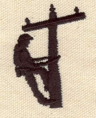 Embroidery Design: Lineman 1.40w X 1.95h