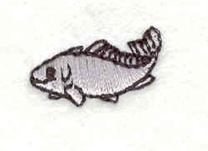 "Embroidery Design: Fish E 0.76""w X 0.53""h"