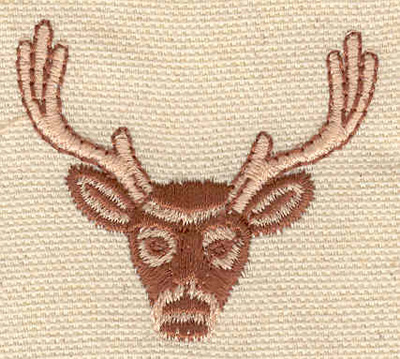 Embroidery Design: Deer head C1.94w X 1.69h