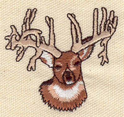 Embroidery Design: Deer head D2.17w X 2.02h