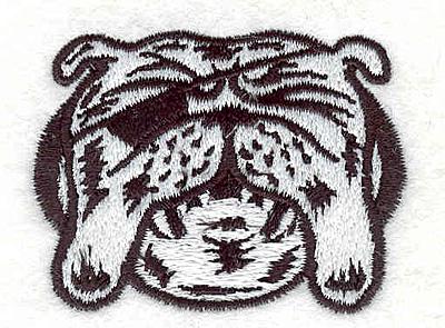 """Embroidery Design: Bulldog L1.66"""" x 2.13"""""""