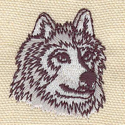 Embroidery Design: Husky A 1.36w X 1.63h