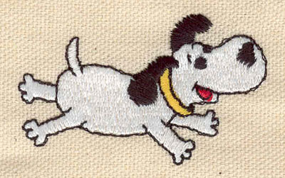 Embroidery Design: Dog spread out 2.30w X 1.40h