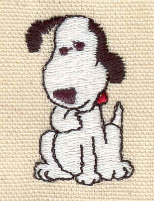Embroidery Design: Dog sitting 1.08w X 1.70h