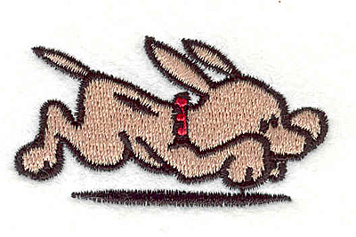"""Embroidery Design: Dog running 1.29"""" X 2.28"""""""