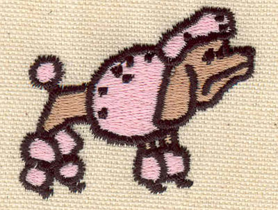 Embroidery Design: Poodle2.04w X 1.72h